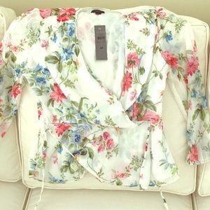 Ann Taylor flower blouse.